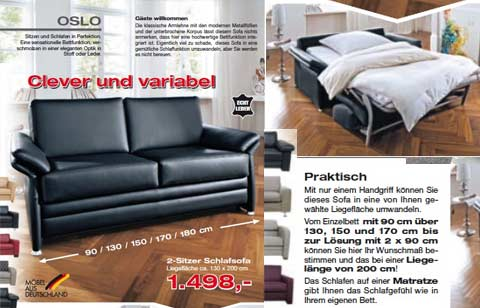 schlafsofas g stebetten funktionssofas in schwalmstadt treysa polsterwelt 3000 marburg. Black Bedroom Furniture Sets. Home Design Ideas